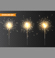 realistic christmas sparkler collection on vector image vector image