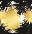seamless pattern with tropical and golden leaves vector image