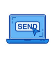 send line icon vector image
