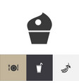 set of 4 editable meal icons includes symbols vector image vector image