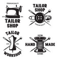 set vintage tailor labels emblems and designed vector image vector image