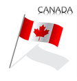 Simple Canada flag isolated on white background vector image vector image