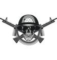 Skull in helmet cheloeka vector image vector image