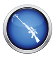Sniper rifle icon vector image vector image