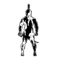 sparta silhouette 0005 vector image