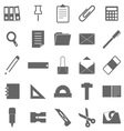 Stationary icons on white background vector image