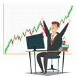 stock market investment and trading concept vector image