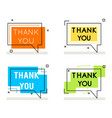 thank you abstract line art banner card element vector image