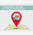 the best location hamburger vector image vector image