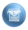 typewriter classic icon simple style vector image