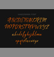 typography alphabet for your designs logo vector image vector image