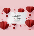 valentines day sale with balloon heart shape vector image