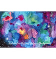 Watercolor abstract Galaxy background vector image