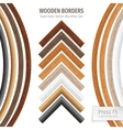 Wooden Borders Brushes vector image vector image