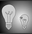 businessman trapped in small idea vector image