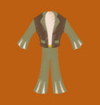 flat shading style icon clothes mens suit vector image