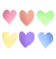 a set of colorful paper hearts vector image
