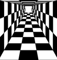 abstract background chess corridor tunnel vector image