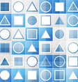 abstract blue game sign seamless pattern vector image