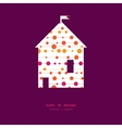 abstract colorful stripes and shapes house vector image vector image