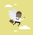 african businessman flying with his wing vector image vector image