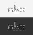 alphabet france design concept with flat sign vector image