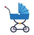 blue baby carriage wheel decoration vector image