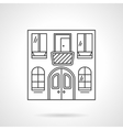 Cafe building flat line icon vector image