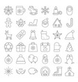 christmas icon collection thin line vector image vector image