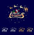 christmas wordmark santa sleigh concept vector image