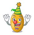 clown tasty honeydew melon isolated on mascot vector image