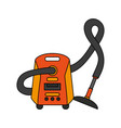color image cartoon vacuum cleaner electrical vector image