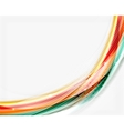 Colorful modern wave line business abstract