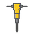 construction jackhammer filled outline icon vector image vector image