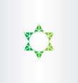 eco green star icon sign vector image vector image
