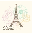 Eifel Tower Paris In Vintage Style With vector image