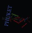 enjoy a great experience at phuket text vector image vector image