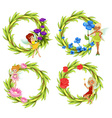 Fairies flying around the flower bouguet vector image vector image