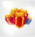 falling presents light background with present vector image vector image