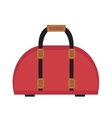 Female travel bag icon flat style Women isolated vector image vector image
