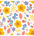 floral seamless pattern with blooming summer vector image vector image