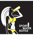 girl with water bottle vector image