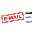grunge e-mail textured rectangle watermarks vector image vector image