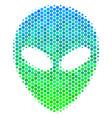 halftone blue-green alien face icon