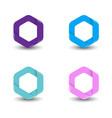 hexagon logo set concept vector image vector image