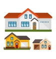 house exterior set icons vector image