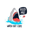 hungry shark vector image