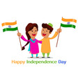 independence day in india greeting card with vector image vector image