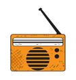 isolated retro radio icon vector image vector image