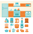 kitchen appliances vector image vector image